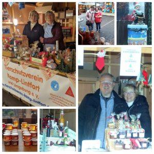 Stand auf dem Weihnachtsmarkt